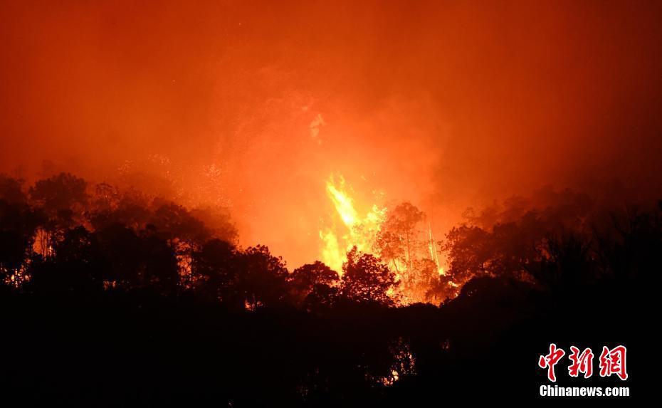 四川西昌森林火灾泸山景区火点复燃 大火逼近千年古刹
