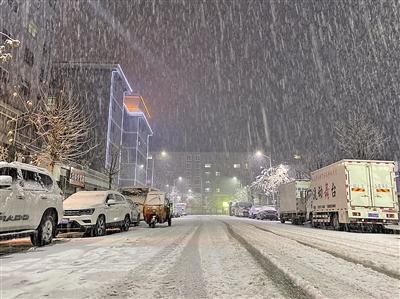 11月20日,延安市甘泉县迎来了降雪。 本报记者 代泽均 摄